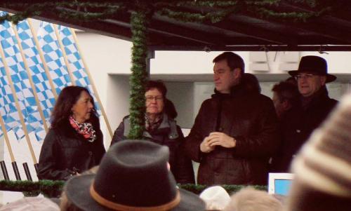 2018-02-07 Helga Huber CSU Rossmarkt in Berching mit Finanzminister Soeder