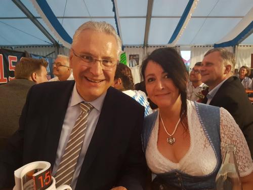 2018-05-28 Helga Huber CSU politischer Abend FFW Sulzbuerg mit Joachim Hermann