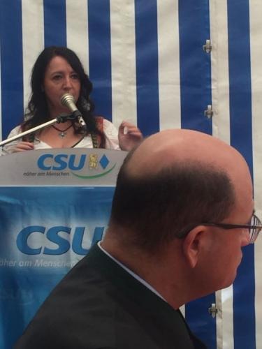 2018-07-01 Helga Huber CSU politischer Fruehschoppen in Wappersdorf