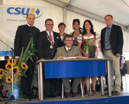 2018-07-08 Helga Huber CSU Kirwa in Deining mit Dr. Florian Herrmann Leiter der Staatskanzlei
