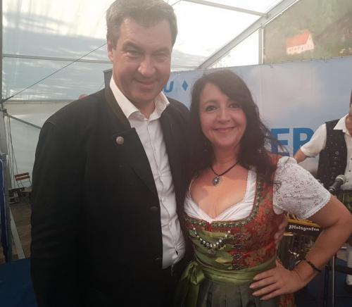 2018-08-26 Helga Huber CSU Der Ministerpraesident und ich