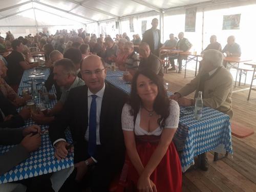 2018-09-17 Helga Huber CSU Trautmannshofen politischer Fruehschoppen mit Albert Fueracker