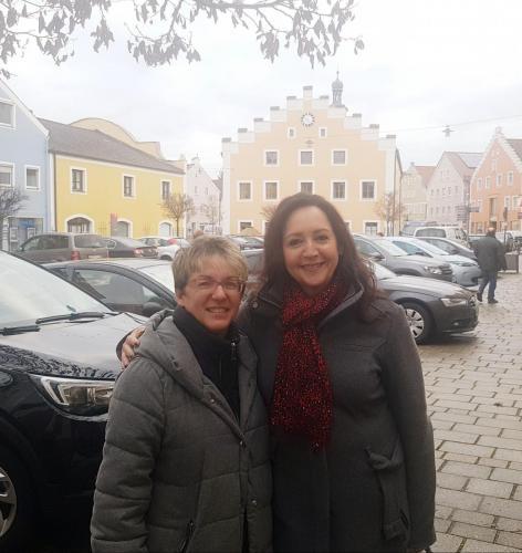Helga Huber CSU - Vorstellungstour durch Dietfurt mit Michaela Hengl